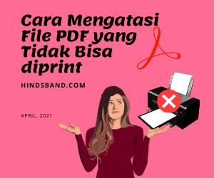 pdf tidak bisa di print