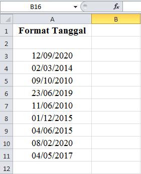 Cara Merubah Format Tanggal di Excel