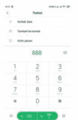 cek pulsa telkomsel dial