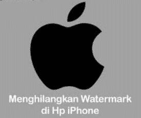 hilangkan watermark di Phone ios 13